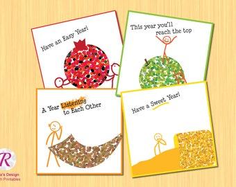 Shana Tova - Rosh Hashana Cards - Full bundle- digital print - printable