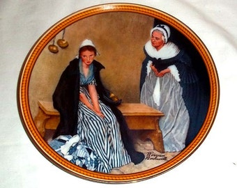 Knowles Norman Rockwell Collectors' Plate Words of Comfort / Rockwell's Colonials / Limited and Numbered