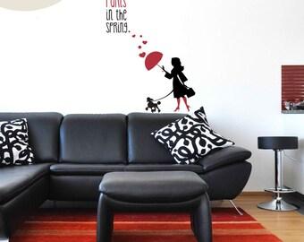 A Paris Spring - Vinyl Wall Decals
