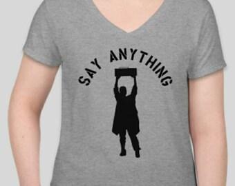 Say Anything tee -  John Cusack boom box movie inspired T-shirt