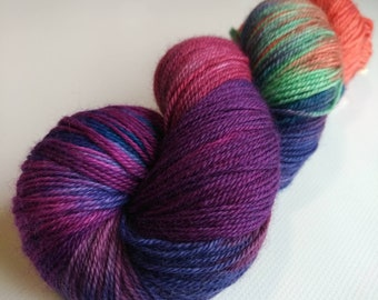 Bluefaced Leicester Sock Yarn , Hand Dyed,  superwash  400 yd
