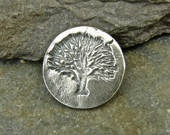 Tree of Life - Handmade Sterling Silver Shank Button - 1 Piece - Perfect For Leather Wrap Bracelets - sbtol