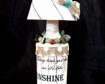 Lamp/ candleholder combo