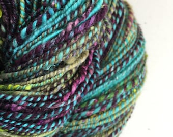 Handspun 2 ply yarn.
