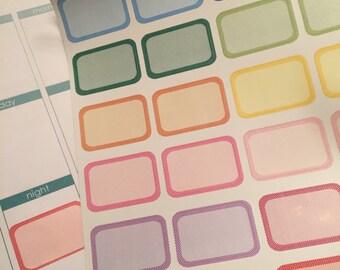 24 Polka Dot Half Boxes Box Planner Stickers for Erin Condren Life Planner (ECLP) Reminder Sticker LDD1109