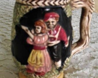 Vintage Beer Stein/ Wiesbaden Haus/ German Beer Stein/ Shooting Woman/ Retro Collectibles/ ShabbySuzi Thrift