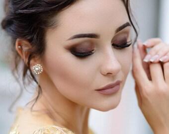 Pearl wedding earrings - harper