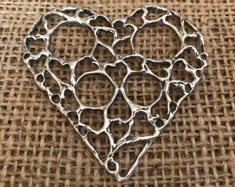 Large Open Hearts Chatelaine by Thimbles by TJ Lane