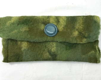 Green Felted Pouch
