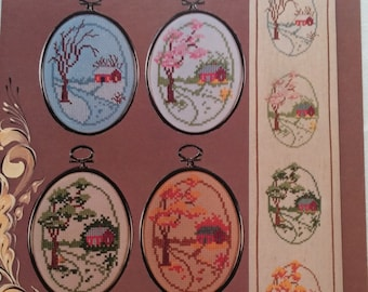 Four Seasons Ovals Charted Designs by Harriette Tew 1979