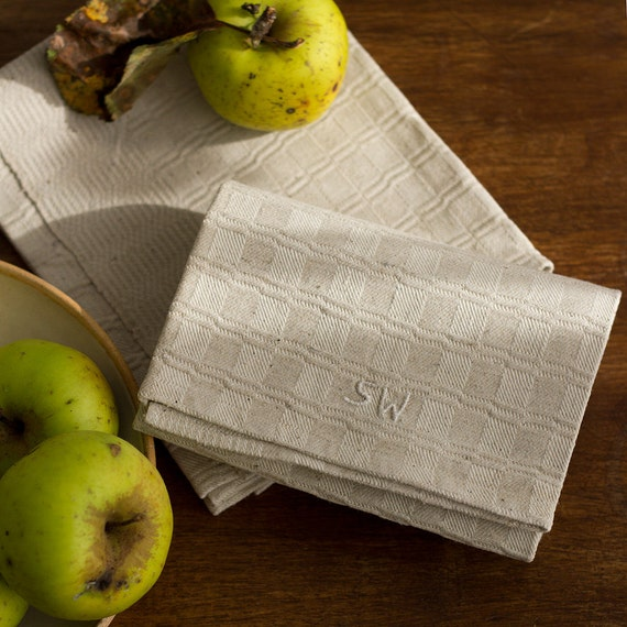 Woven Natural French Linen Kitchen Towel