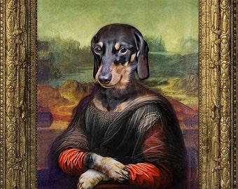 Mona Lisa - Pet Portrait - Custom Renaissance Pet Dog/Cat Portraits - Digital personalized portrait painting using your Pet's Photo