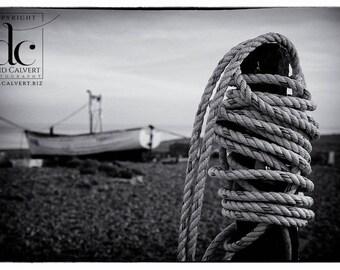 Rope on Aldeburgh Beach. Fine art Giclee Print