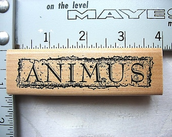 Stampers Anonymous Latin Word ANIMUS DESTASH Rubber Stamp, Used Rubberstamp
