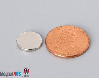 """50pcs 7/16""""X 1/16""""(11.11mmX 1.58mm) Grade N40 Neodymium rare earth magnets for fridge, photo clip, cloth-pins"""