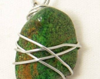 Wire-wrapped Stone Pendant - Stone Necklace - Wire-wrapped Necklace - Wire-wrapped Pendant