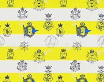 Ralph Lauren Seaworthy Crest Sailing Fabric Per Meter