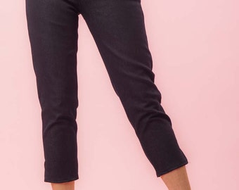 Side Zip Capri Pants Denim Retro / Rockabilly / Vintage 50s Pinup Clothing