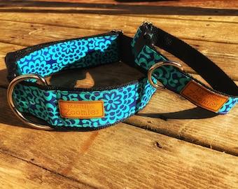 Turquoise Flower Dog Collar, Maritime, PEI