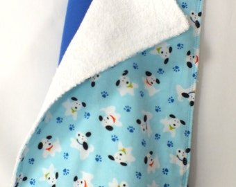 Bold Royal Blue 47 X 47 Muslin Swaddling Blanket & Burp Cloth Combo - You Choose Fabric 4 Burp Cloth -  Makes an ideal gift for  baby shower
