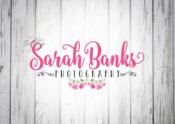 Photography Logo, Floral Logo, Photographer Watermark Logo Design with Flowers, Business Logo Design, Logo for Photographer