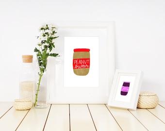 Peanut Butter Illustration Printable