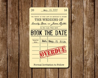 Library Card Save The Dates
