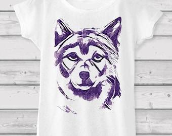 Wolf Print Women's T-shirt - Festival Clothing / Girlfriend Gift