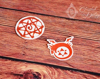 Fullmetal Alchemist Temporary Tattoo Pack for every cosplay needs! Ouroboros for Homunculus and blood seal rune for Alphonse Elric