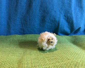 TIny Knitted Stuffed Sheep