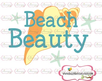 Beach Beauty SVG, DXF, EPS cut file Dance svg beach cut file beach svg beach beauty cut file