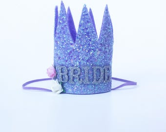 Bride crown | Hen Party crown | bachelorette headband| hens | Bride to be | Wedding gift | Team Bride | engagement hat | Glitter Crown |