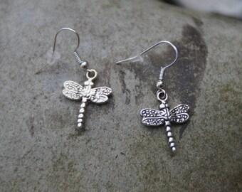 Silver Dragonfly earrings