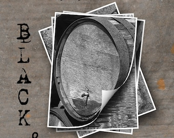LETTER O Alphabet Photography LETTERS - Black and White Alphabet Photos