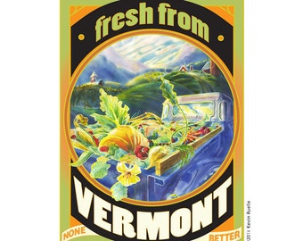 Fresh From Vermont Travel Poster
