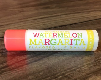 WATERMELON MARGARITA Lip Balm - All Natural - Homemade