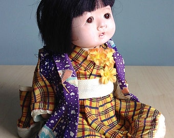 Vintage Japanese Baby Doll In Kimono