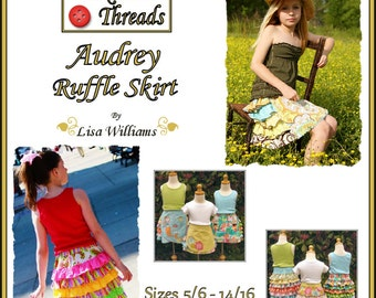 INSTANT DOWNLOAD: Audrey Ruffle Skirt - DiY Tutorial PdF eBook Pattern - Size 5/6 to 14/16
