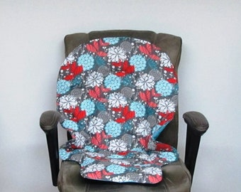 Graco floral replacement high chair pad, Duodiner or Blossom baby accessory child chair cushion, kids furniture, feeding chair, windflowers