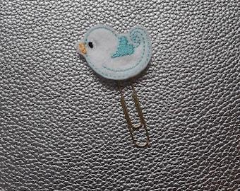 White Bird Planner Bookmark. Planner Feltie Clip.  Paperclip.  Felt Clip. Planner Gifts.  Stationery.  UK SELLER!