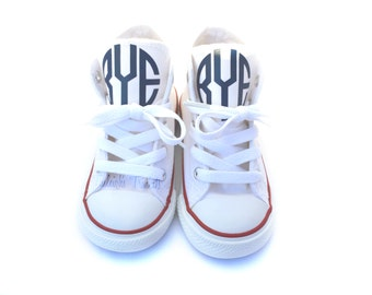 Monogram Converse Shoes, Initials on Converse, Personalized Custom Converse, Baby and Adult Converse