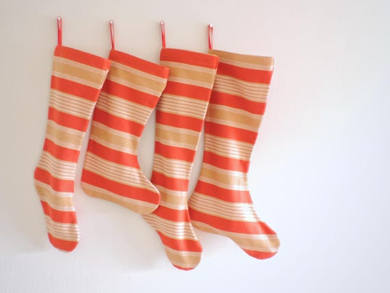 Red Christmas Stocking Personalized Christmas Stocking Gold Boy Girl Family Pet Large Big Long Striped Plaid Solid Classic All Ages Klondike