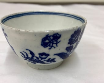 Antique Charming First Period Worcester Tea Bowl  circa 1770