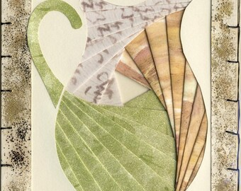Handmade Thinking of You Greeting Card - Iris folded Pitcher v.6