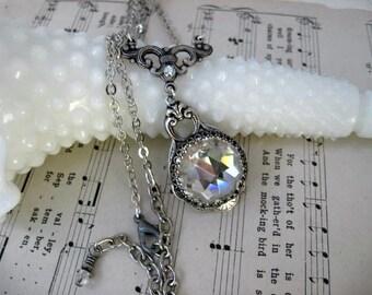 Vintage Clear Swarovski Crystal Necklace - N51