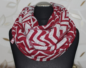 Infinity scarf, jersey knit fabric,Free shipping
