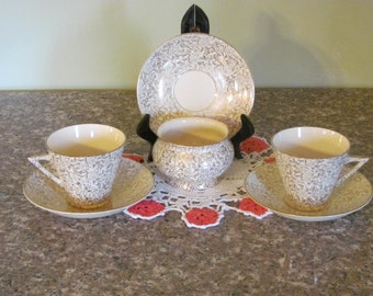 Tea cup and saucers and sugar bowl  from  T.F.&S.  LTD.  Phoenix