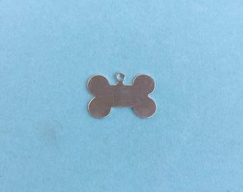 Sterling silver dog bone tag