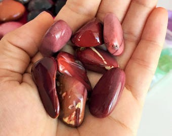 Pink Mookaite Jasper Crystals, Small Healing Stones infused w/ Reiki