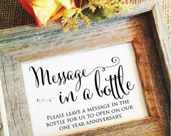 Anniversary wishing bottles sign wedding signage anniversary